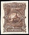 El Salvador 1891 25c Seebeck essay in dark brown.jpg