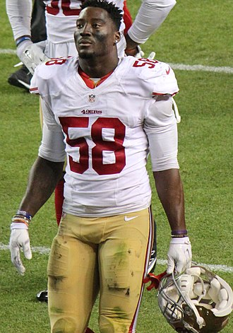 Eli Harold - Harold with the San Francisco 49ers in 2015
