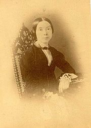 Supposedly one of only two known daguerreotypes of Emily Dickinson. Made in the 1850s and discovered in 2000 on eBay by Philip F. Gura, its authenticity is questioned.