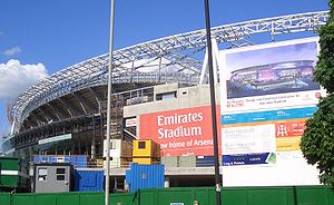 L'Emirates Stadium en construction