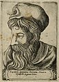Empedocles. Line engraving, 1580. Wellcome V0001766.jpg