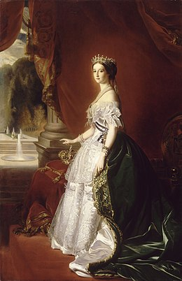 Empress Eugénie in Court Dress (Guillemet after Winterhalter, Musée d'Orsay).jpg