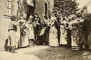 Enoch Arden (1915 film) - Film still of the wedding of Enoch and Annie