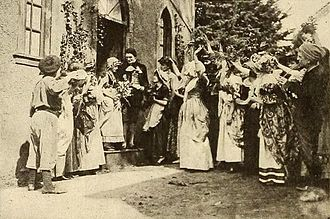 Enoch Arden (1915 film) - Film still of the wedding of Enoch and Annie