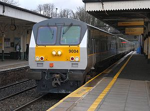 Belfast–Dublin line - Image: Enterprise Train Lisburn 2007