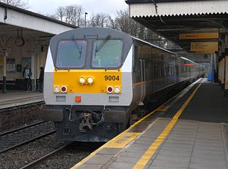Rail transport in the United Kingdom - Image: Enterprise Train Lisburn 2007