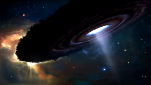 Epsilon Aurigae - The ε Aurigae system during an eclipse (artist impression)