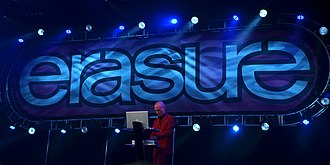 Vince Clarke - Clarke with Erasure in a performance at Delamere Forest, UK on 1 July 2011