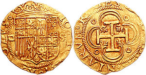 Escudo - Juana and Charles I. 1504-1555. AV Escudo (24 mm, 3.38 g, 9 h). Seville mint.