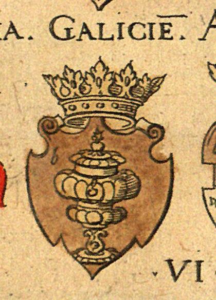 Escudo de Galicia en Virgil Solis Wappenbuchlein - 1555