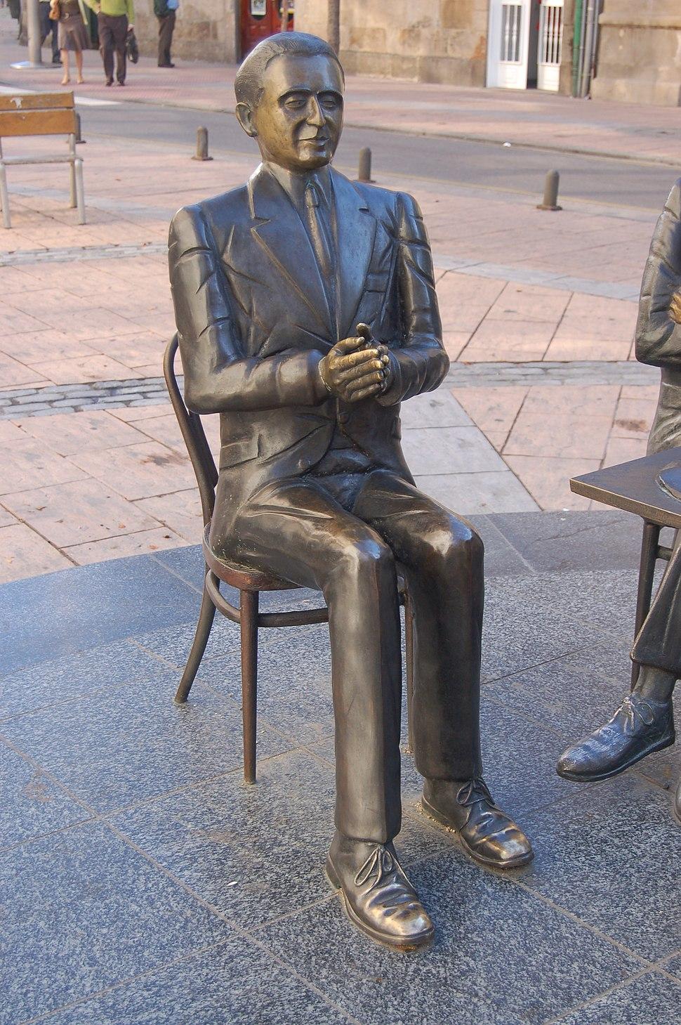 Estatua en Pontevedra.