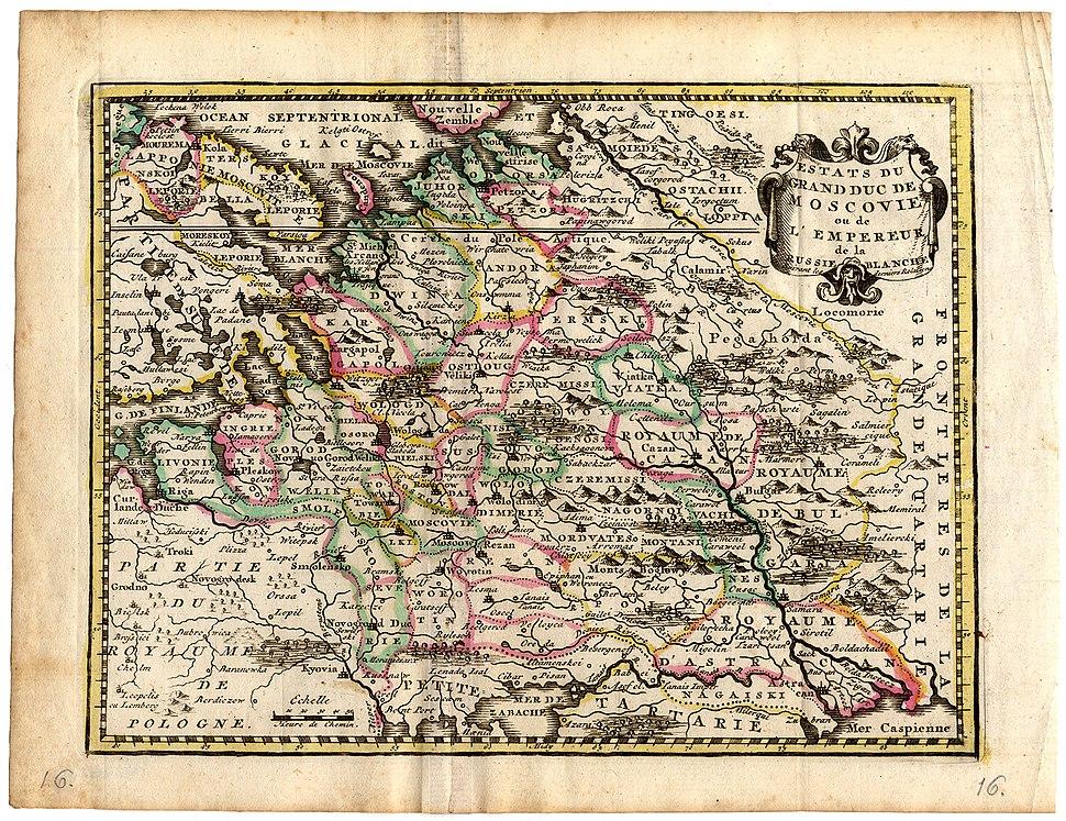 Estats du Grandduc de Moscovie ou de l-Empereur de la Russie Blanche - by Hendrik de Leth - 1749 AD