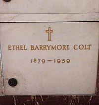 Ethel Barrymore Grave.JPG