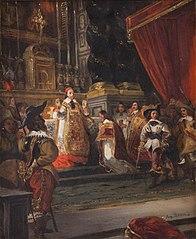 Le cardinal de Richelieu disant la messe dans la chapelle du Palais-Royal