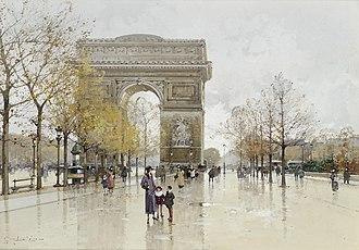 Place Charles de Gaulle - Image: Eugène Galien Laloue Paris Arc de Triomphe 2