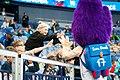 EuroBasket 2017 - Mascot Slam Dunk and fans 3.jpg