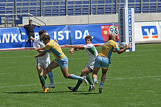 Ireland national rugby sevens team - Ireland defeated Ukraine 26-7 at the 2008 European Championship.