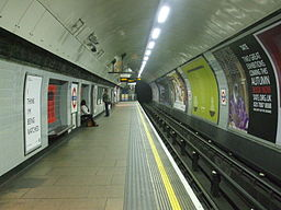 Euston tube stn Northern Bank branch northbound