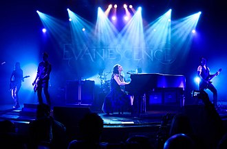 Evanescence - Evanescence in 2015. Left to right: Jen Majura, Tim McCord, Amy Lee, Troy McLawhorn, and Will Hunt.