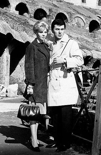 James Darren - Evy Norlund and James Darren on their honeymoon in Rome in 1960