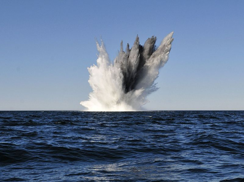 File:Explosion of WWII mine in the Baltic Sea in 2014.JPG