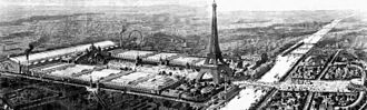 Grande Roue de Paris - Exposition Universelle of 1900, viewed from north north east