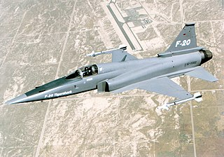Northrop F-20 Tigershark Prototype fighter aircraft developed from F-5