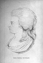 Maria Theresia Paradis, 1784. (Quelle: Wikimedia)