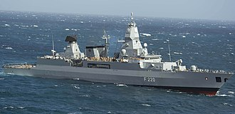 Sachsen-class frigate - Image: F220 Hamburg 130311 N XQ474 229 crop