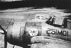 VMO-2 - A rare F4F-3P of VMO-251 at Espiritu Santo in 1942.