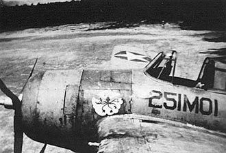 VMO-2 - A rare F4F-3P of VMO-251 at Espiritu Santo in 1942.