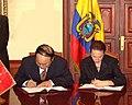 FIRMA DE ACUERDOS ECUADOR REPUBLICA SOCIALISTA DE VIETNAM. 20.08.07 MRECI (1187406052).jpg