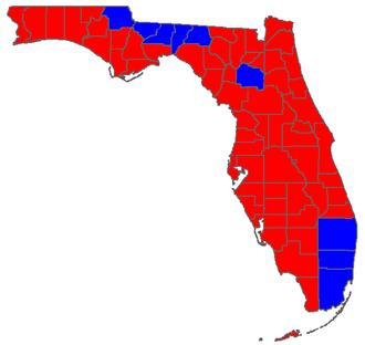 Florida gubernatorial election, 1998 - Image: FL Gov 06Counties