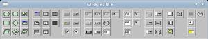 FLUID - FLUID's widget bin window