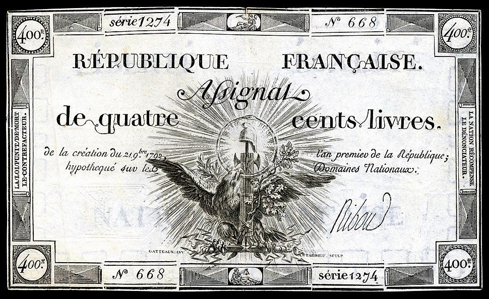 FRA-A73-République Française-400 livres (1792) 2