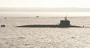 French submarine Inflexible (S615) - L'Inflexible, a nuclear submarine of the Redoutable class