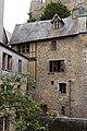 Façade est de l'ancien hôtel de la Licorne (Le Mont-Saint-Michel, Manche, France).jpg