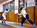 Fencing training. On the left Alexandros Kanellis. On the right Ilias Konstantinidis.jpg
