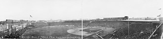 1914 World Series - Fenway Park on October 12, 1914, for the third game of the 1914 World Series.