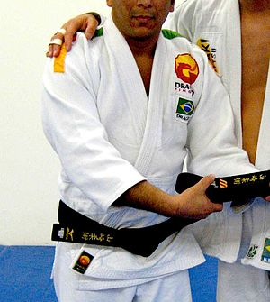 Uwagi - A jujutsu uwagi being worn.