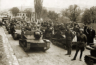 Bulgarian Land Forces - Bulgarian CV-33 tankette unit in the 1930s