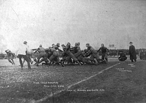 College football - 1902 football game between the University of Minnesota and the University of Michigan