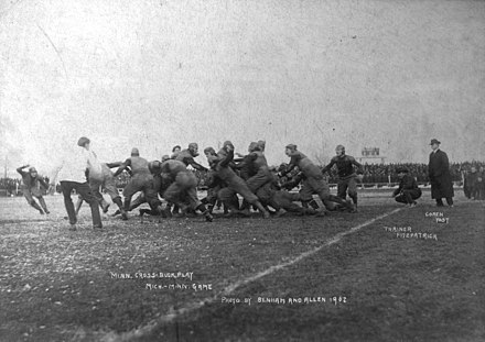 1902 football game between the University of Minnesota and the University of Michigan Fielding Yost-1902.jpg