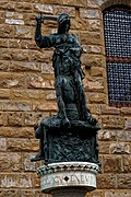 Firenze - Florence - Piazza della Signoria - View East on 'Judith and Holofernes' (Copy) 1460 by Donatello.jpg