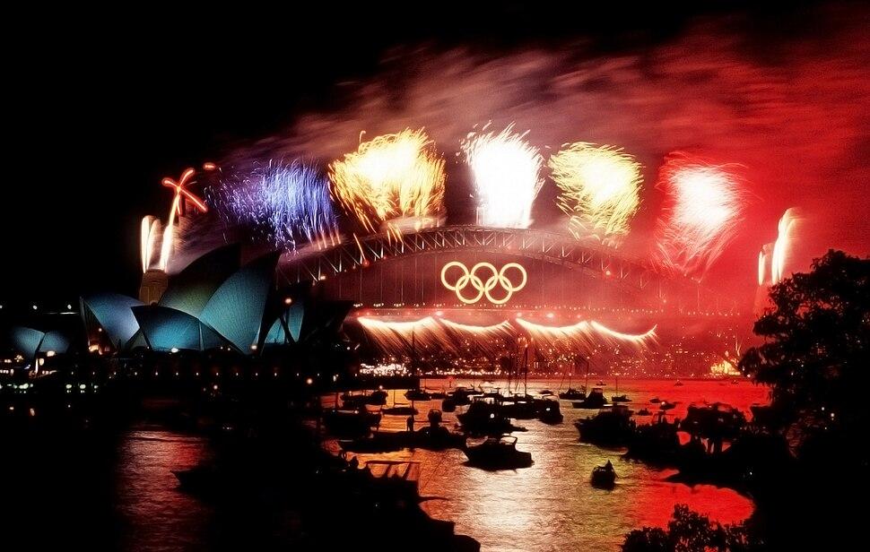 Fireworks, Sydney Harbour Bridge, 2000 Summer Olympics closing ceremony