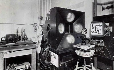 The Felix the Cat doll used by NBC in early television experiments.