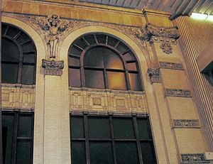 Five Points station - Facade of the Eiseman Building in the Five Points Station