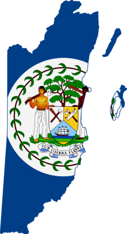 Flag map of British Honduras (Belize) (1950 - 1981)