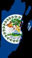 Flag map of British Honduras (Belize) (1950 - 1981).png