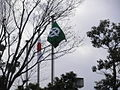 Flag of Kyotanabe Kyoto picture in Kyotanabecity Office.JPG